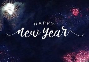 New Year sign AS